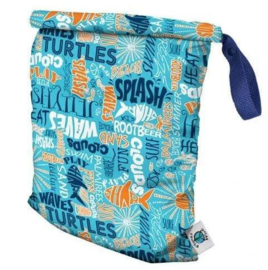 Planet Wise Roll Down Wetbag - Aqua Splash