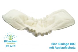 Blümchen 2in1 Kuschel-Einlage BIO-Baumwolle