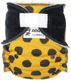 Anavy Bamboo Onesize Velcro - Yellow dots
