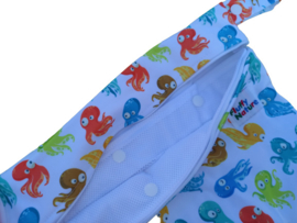 Fluffy Nature Wetbag met Wasnet - Colorful Octopus
