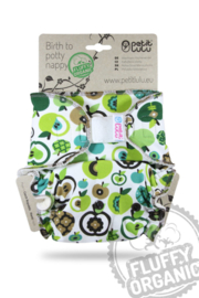 Petit Lulu Maxi/Night Fluffy Organic - Apple - Klett (7-16kg)