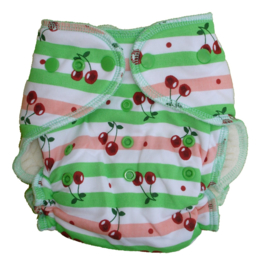 Fluffy Nature Bamboo Onesize Snaps - Cherry
