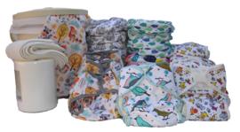 Wasbare Luiers COMPLEET Pakket - tweedelig - 5-15 kg