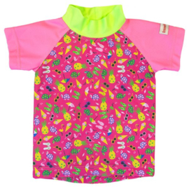 Imse Vimse Swim&Sun UV-T-Shirt Pink Sealife-74/80