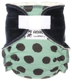 Anavy Bamboo Onesize Velcro - Kaki Dots