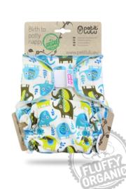 Petit Lulu Maxi/Night Fluffy Organic - Little Elephants - Klett (7-16kg)