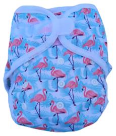 Fluffy Nature Onesize Overbroekje (klittenband) - Flamingo