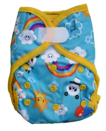 Fluffy Nature Newborn PLUS overbroekje (2,5-6,5 kg) - Rainbows - 2de keus