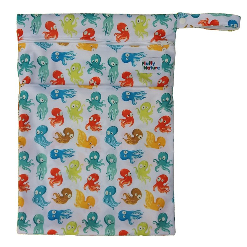 Fluffy Nature Wetbag - Colorful Octopus