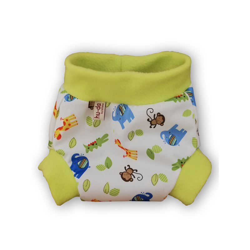 Hu-da PUL-Fleece overbroekje - Monkey Green