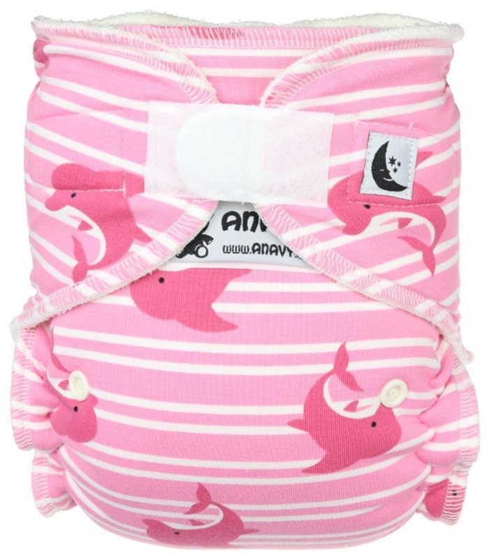 Anavy Bamboo Night/XL Velcro - Pink Dolphins