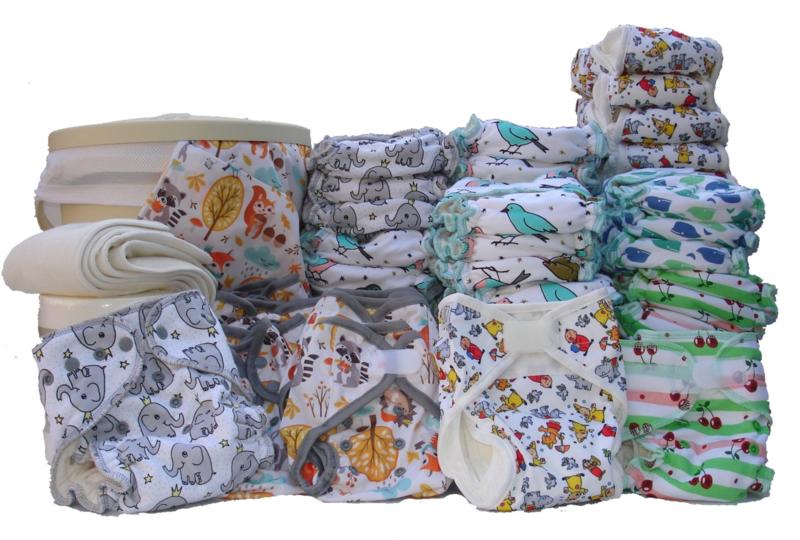 Wasbare Luiers LUXE COMPLEET Pakket - tweedelig - Birth-to-potty