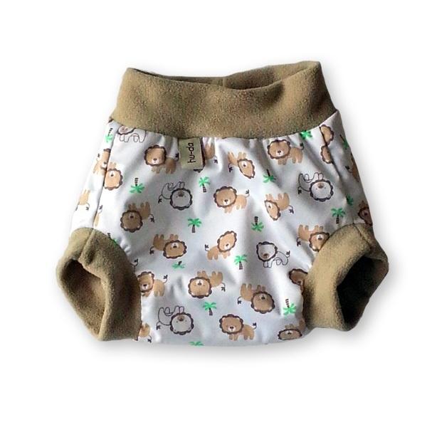 Hu-da PUL-Fleece overbroekje - Leeuwtjes