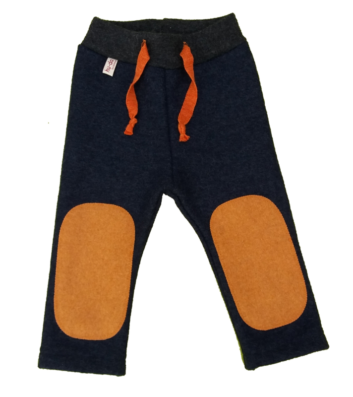 Hu-da wollen Walk-longie - Jeans-Orange