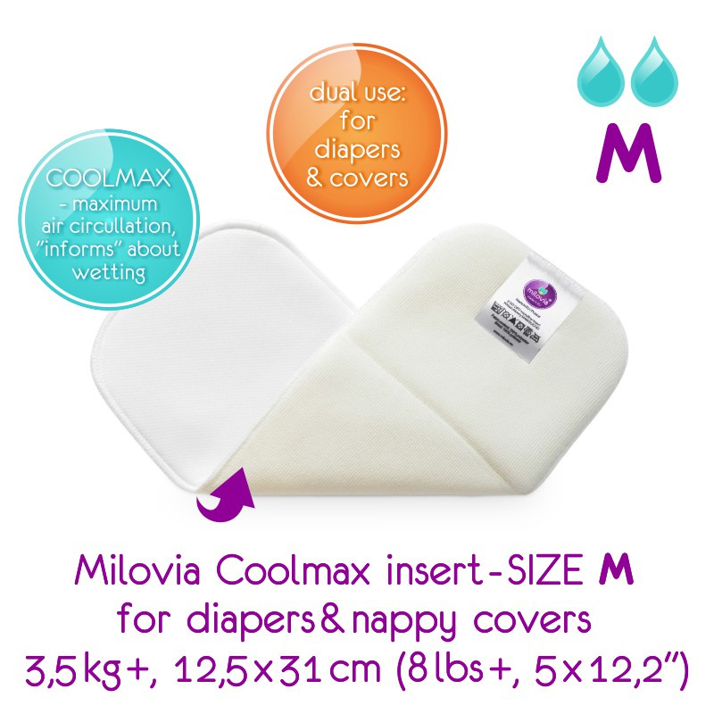 Milovia Inleggers Coolmax