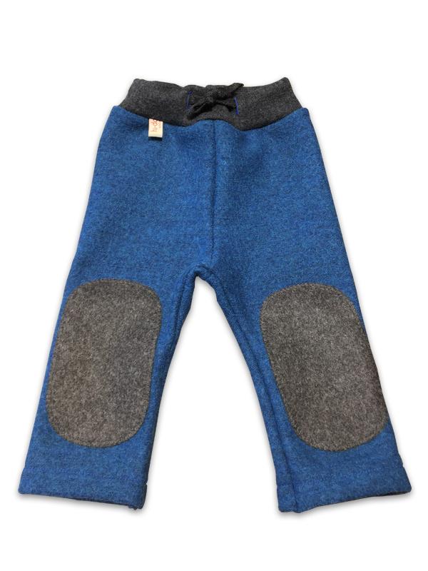 Hu-da wollen Walk-longie - Blauw-grijs