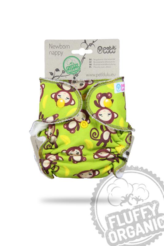 Petit Lulu Newborn Fluffy Organic - Monkey Business