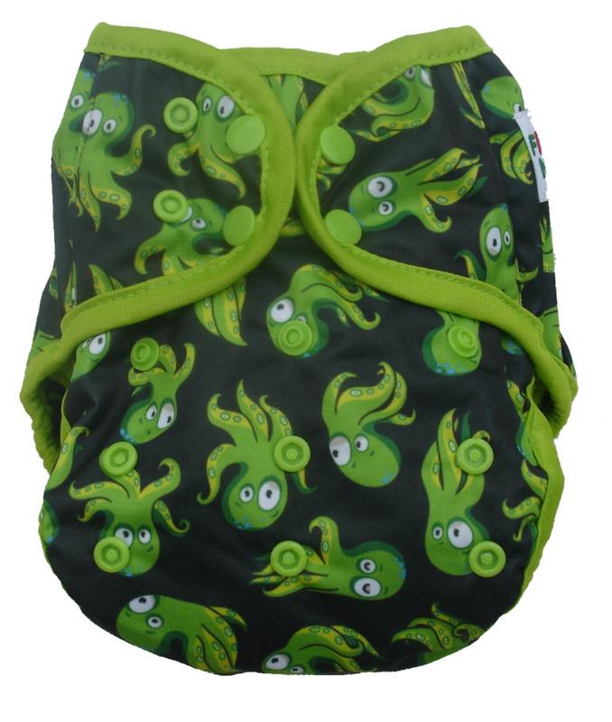 Fluffy Nature Überhose XL (10-20kg) - Green Octopus