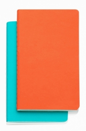 notebook large blue/orange A4