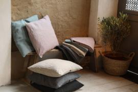 Fay, 100% linnen kussenhoes, Off Black, Dark Grey, Natural,Ocean Green, Old Pink