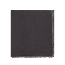 Stonewashed linnen tafelkleed Capri, Off Black