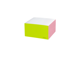 Notitie blok, colorblock, Vierkant