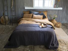 Amy Plaid, 100% linnen/100%cotton satin, Off Black