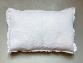 Malaga kussenhoes,  stonewashed linnen, Off White