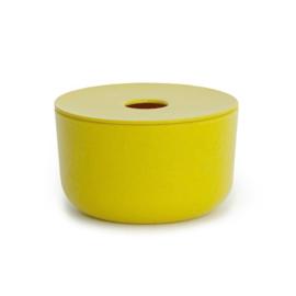 Storage Box in Bamboo Fibre , Yellow
