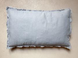 Malaga kussenhoes,  stonewashed linnen,  Jeans Blue