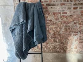 Amy Plaid, 100% linnen/100%cotton satin, Dark Blue