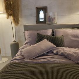 Malaga kussenhoes,  stonewashed linnen,  Lilac