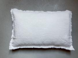 Malaga kussenhoes,  stonewashed linnen, White