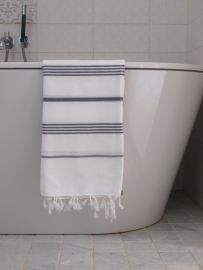 hamam handdoek wit/antra M