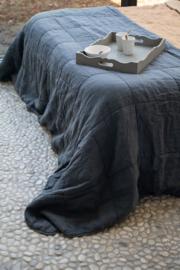 Amy Plaid, 100% linnen/100%cotton satin, Dark Grey