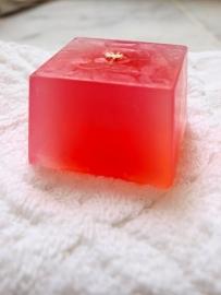 blok zeep freesia/roos