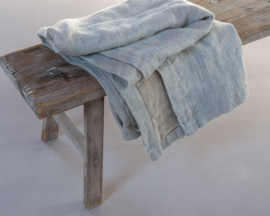 Ivy, 100% gerecycled linnen, Jeans Blue/Sand