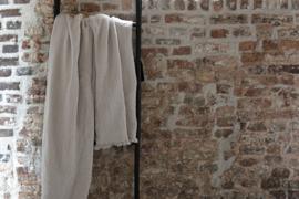Puglia Plaid, 100% cotton met wafel structuur en fringes, Natural