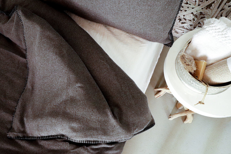 ISCHGL, eco flanel cotton, Dark Grey