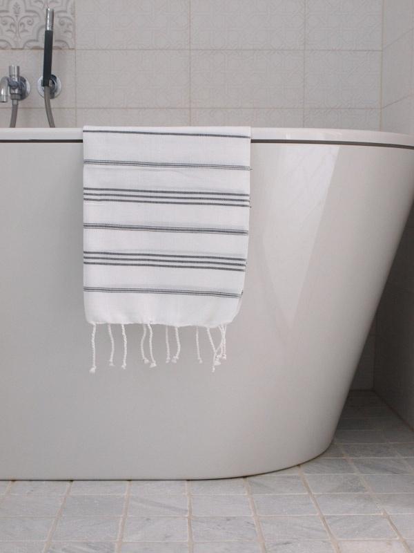 hamam handdoek wit/antra  S