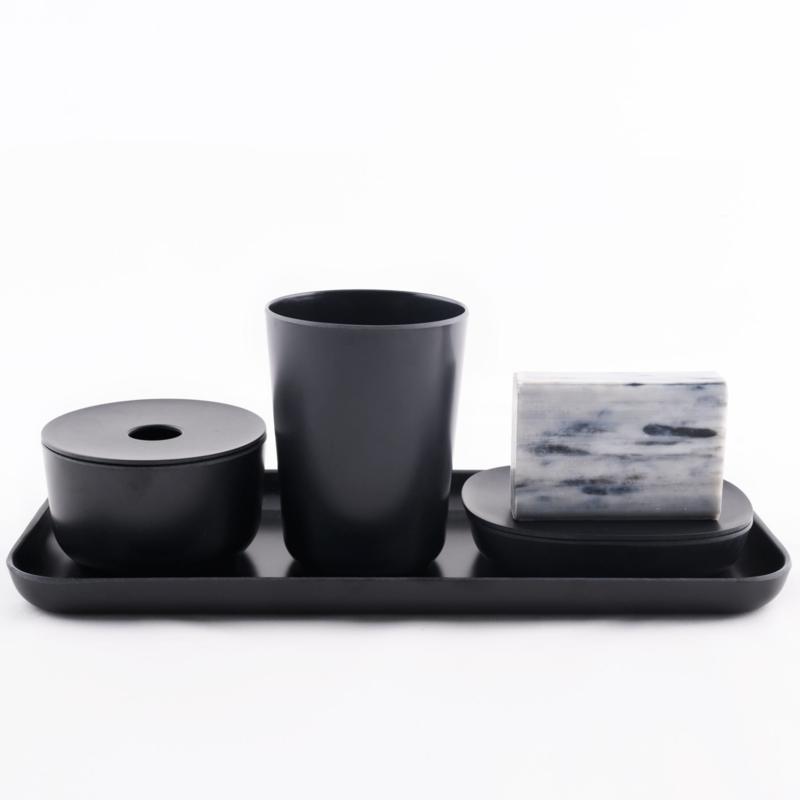 Soap Dish in Bamboo Fibre, Black