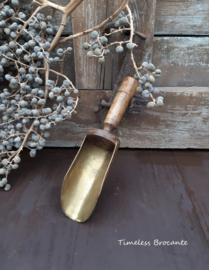 Gruttersschep koper/hout