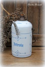 Emaille petroleumkan 3L Saksisch motief
