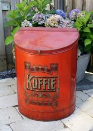 Zeer groot oud koffieblik