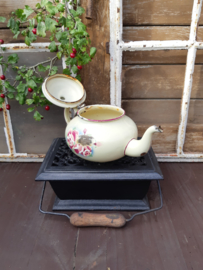 Brocante emaille theepot