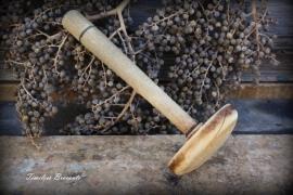 Brocante houten stamper