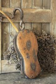 Groot antiek vioolblok/scheepskatrol