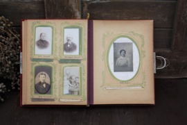 Antiek Victoriaans fotoalbum mét foto's