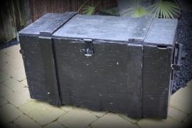 Stoere industriële houten kist XXL