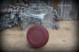 Oude glazen snoeppot